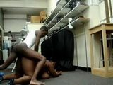 Amateur Black American Boy Fucks Big Black Woman At Work Place