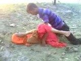 Indian College Girl Taken Advantage By Guys In Open Field