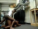 Amateur Black American Boy Fucks Big Black Woman At Work Place